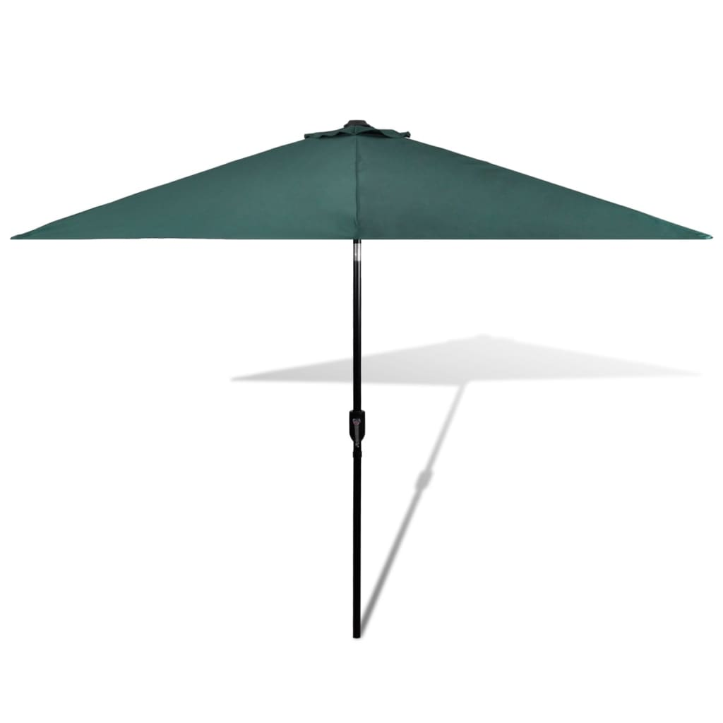 parasol green 3m steel pole. Black Bedroom Furniture Sets. Home Design Ideas
