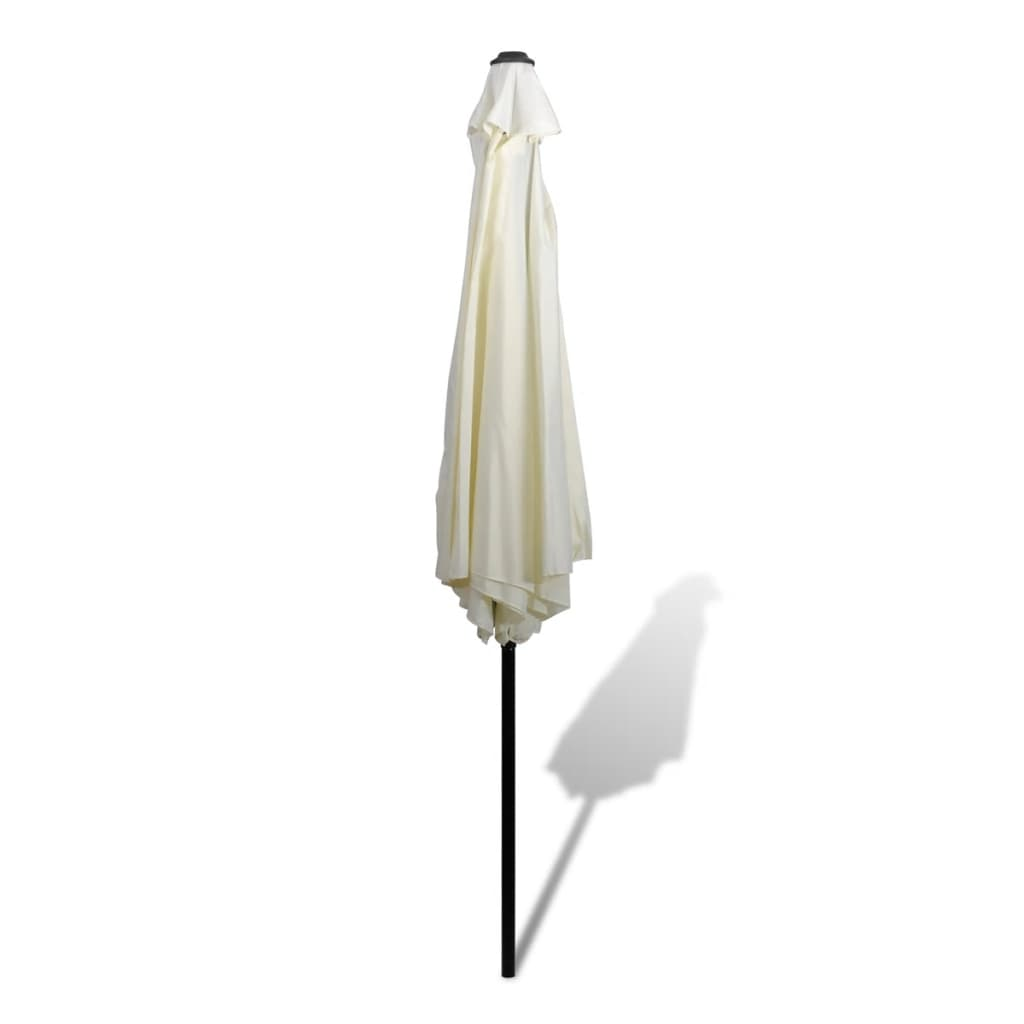 la boutique en ligne parasol blanc avec m t en acier 3m. Black Bedroom Furniture Sets. Home Design Ideas