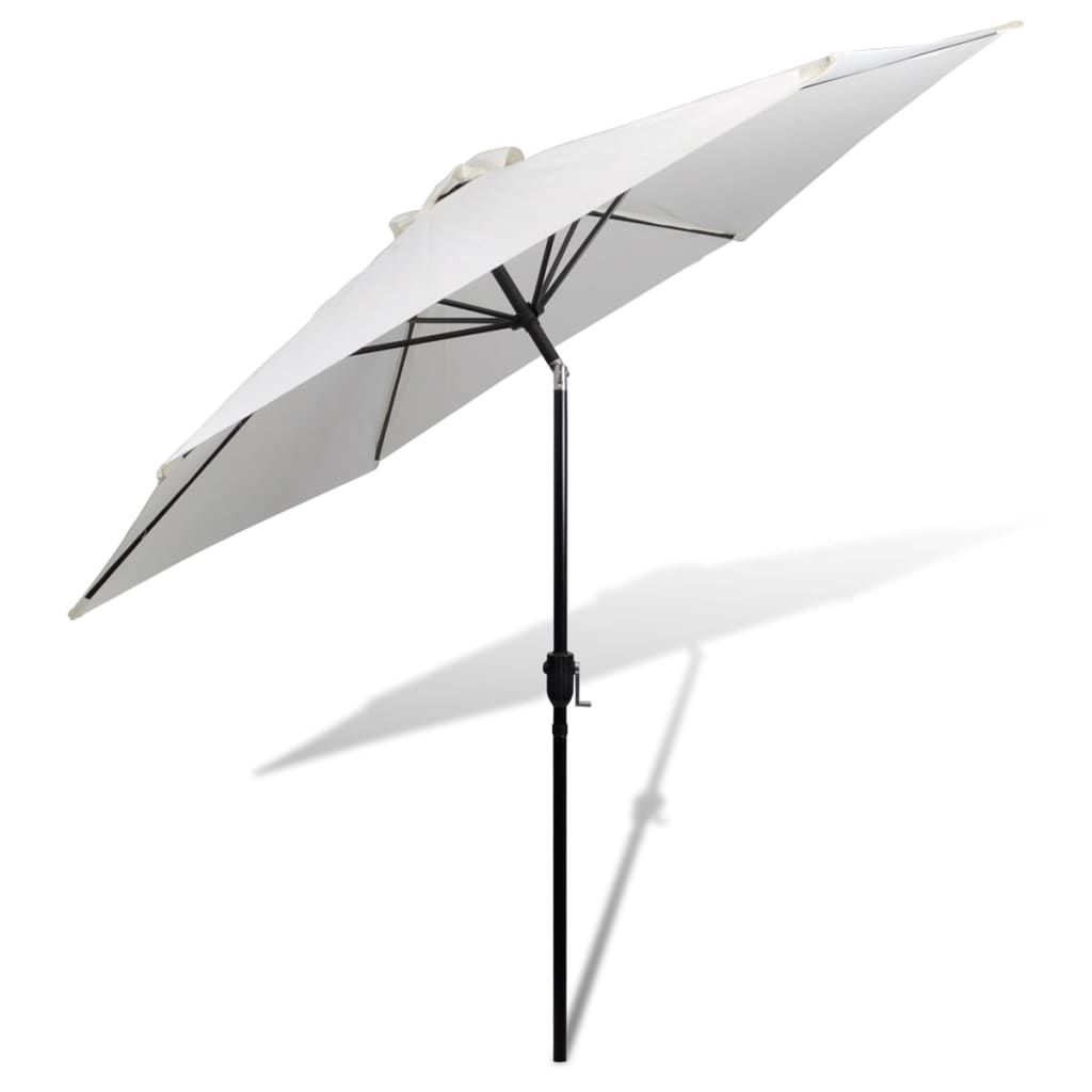 parasol sand white 3m steel pole. Black Bedroom Furniture Sets. Home Design Ideas