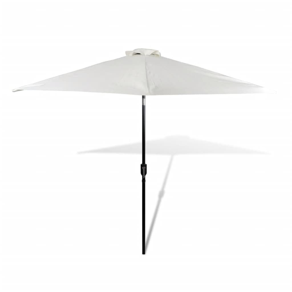 la boutique en ligne parasol blanc avec m t en acier 3m. Black Bedroom Furniture Sets. Home Design Ideas
