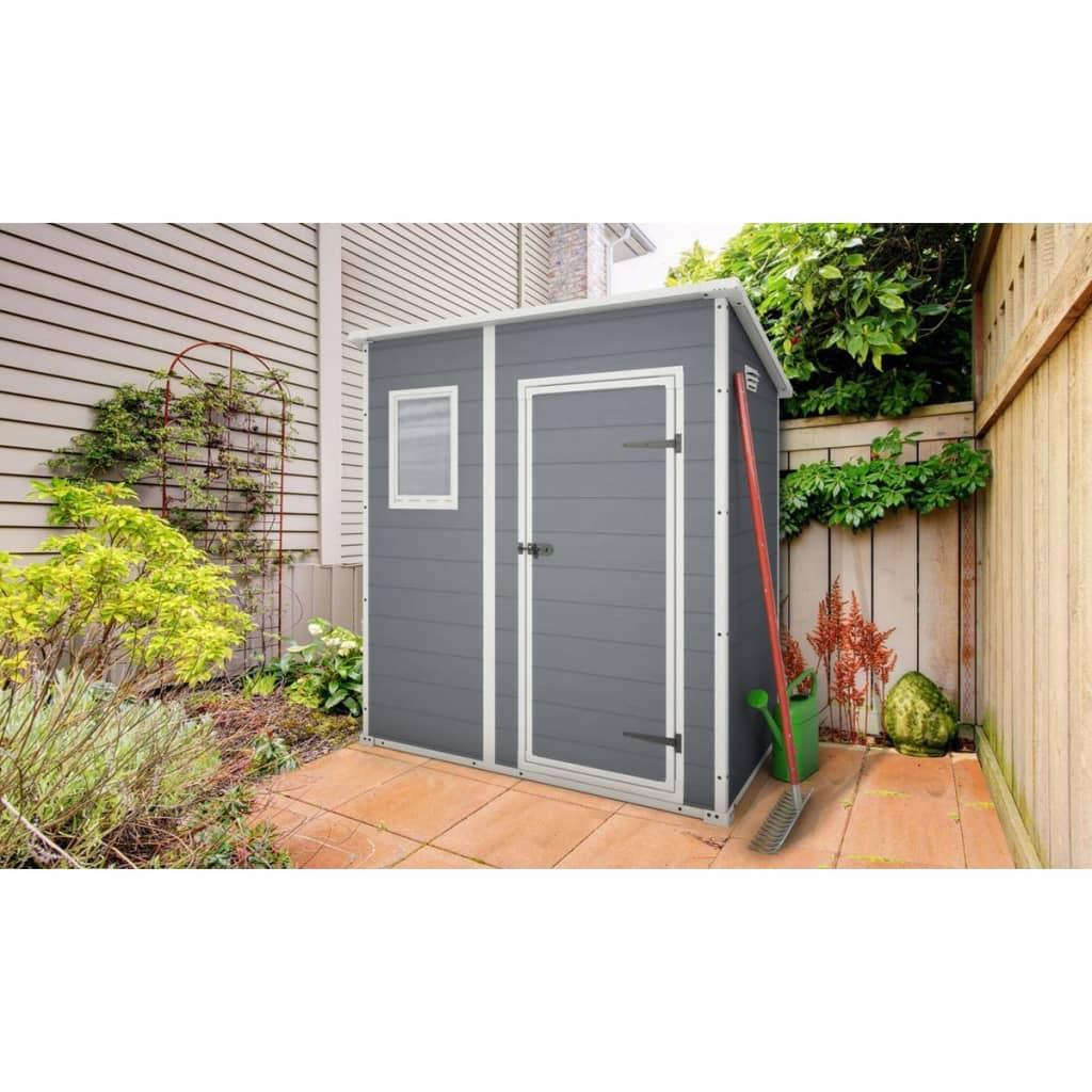 keter storage shed manor 64 grey 17199514. Black Bedroom Furniture Sets. Home Design Ideas