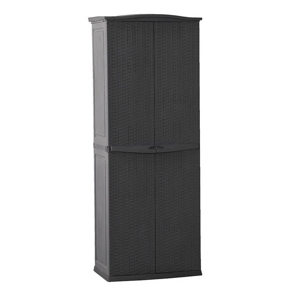 la boutique en ligne keter armoire de rangement pour patio rotin anthracite. Black Bedroom Furniture Sets. Home Design Ideas
