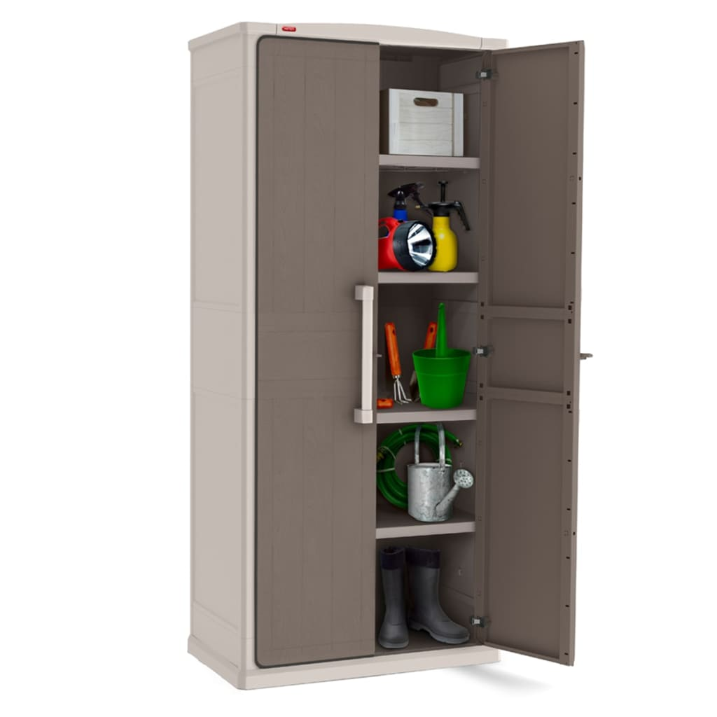 tall outdoor storage cabinet keter storage cabinet optima outdoor 233184 27047