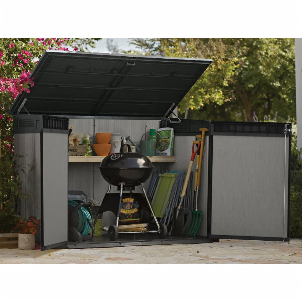 acheter keter abri de stockage grande store gris 233150 pas cher. Black Bedroom Furniture Sets. Home Design Ideas
