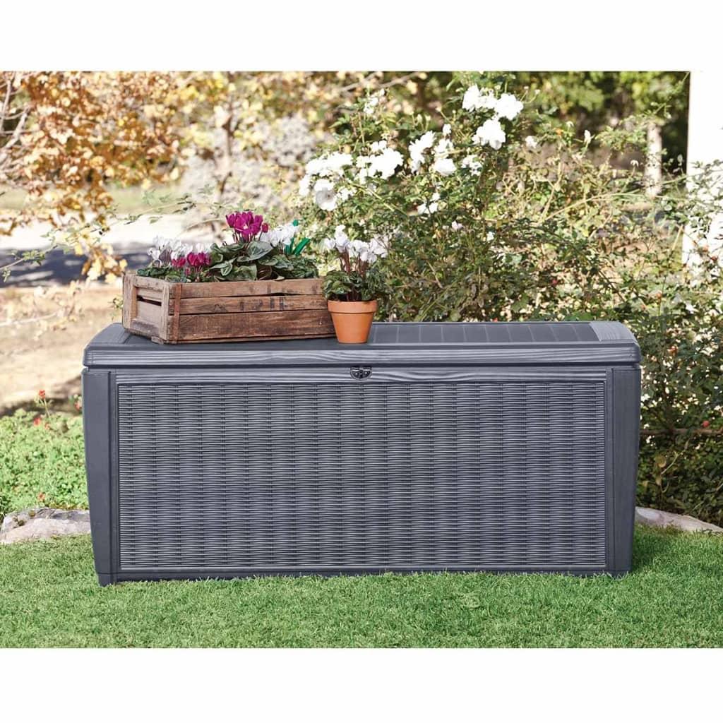 keter outdoor storage box sumatra anthracite 17200549. Black Bedroom Furniture Sets. Home Design Ideas