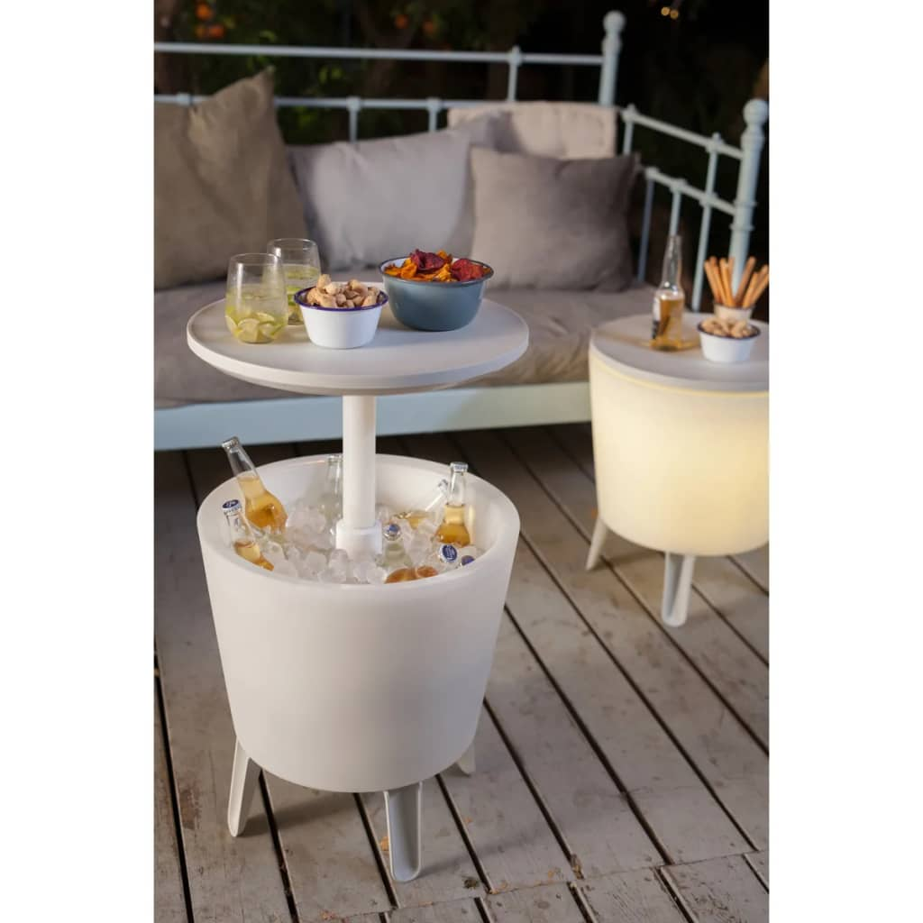 Keter illuminated cool bar white 17204184 for Cool bar pictures