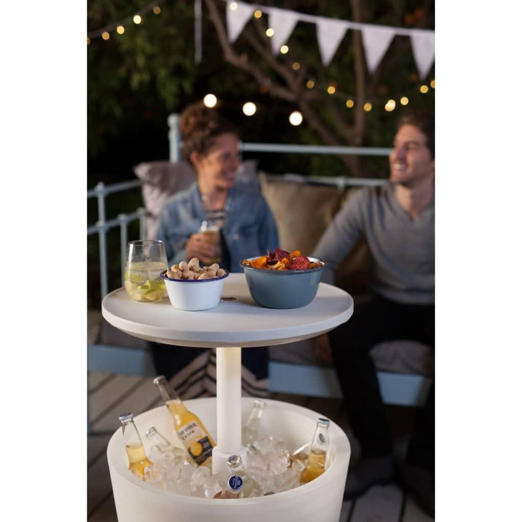Keter mesa de bar nevera blanca 232924 for Mesa de exterior blanca