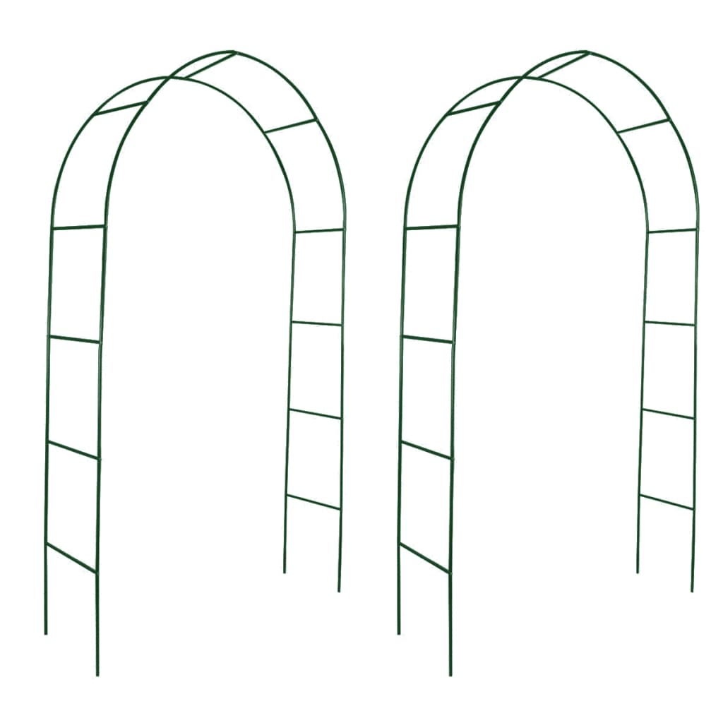 garden arch 2 pcs climbing plants. Black Bedroom Furniture Sets. Home Design Ideas