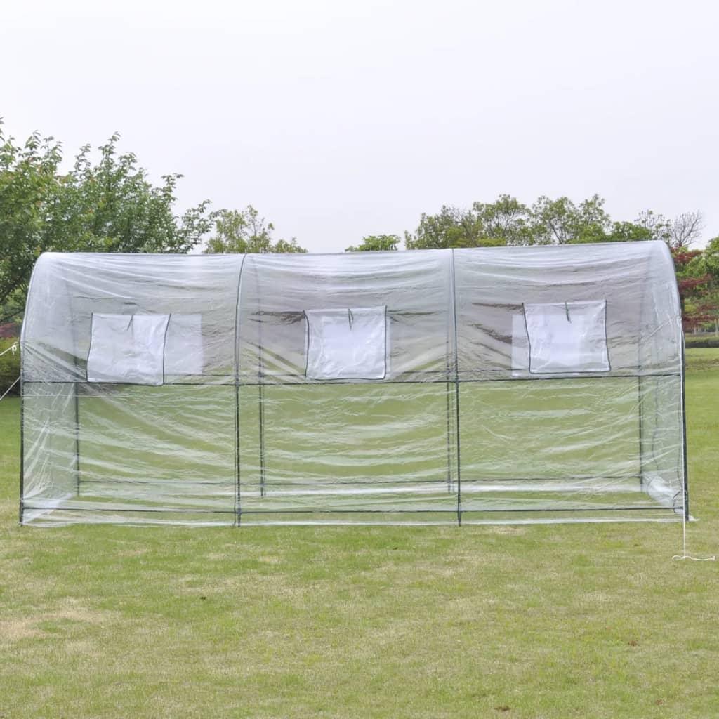 vidaXL-Invernadero-Exterior-Gran-Entrada-Portatil-Planta-Jardineria-Transparente