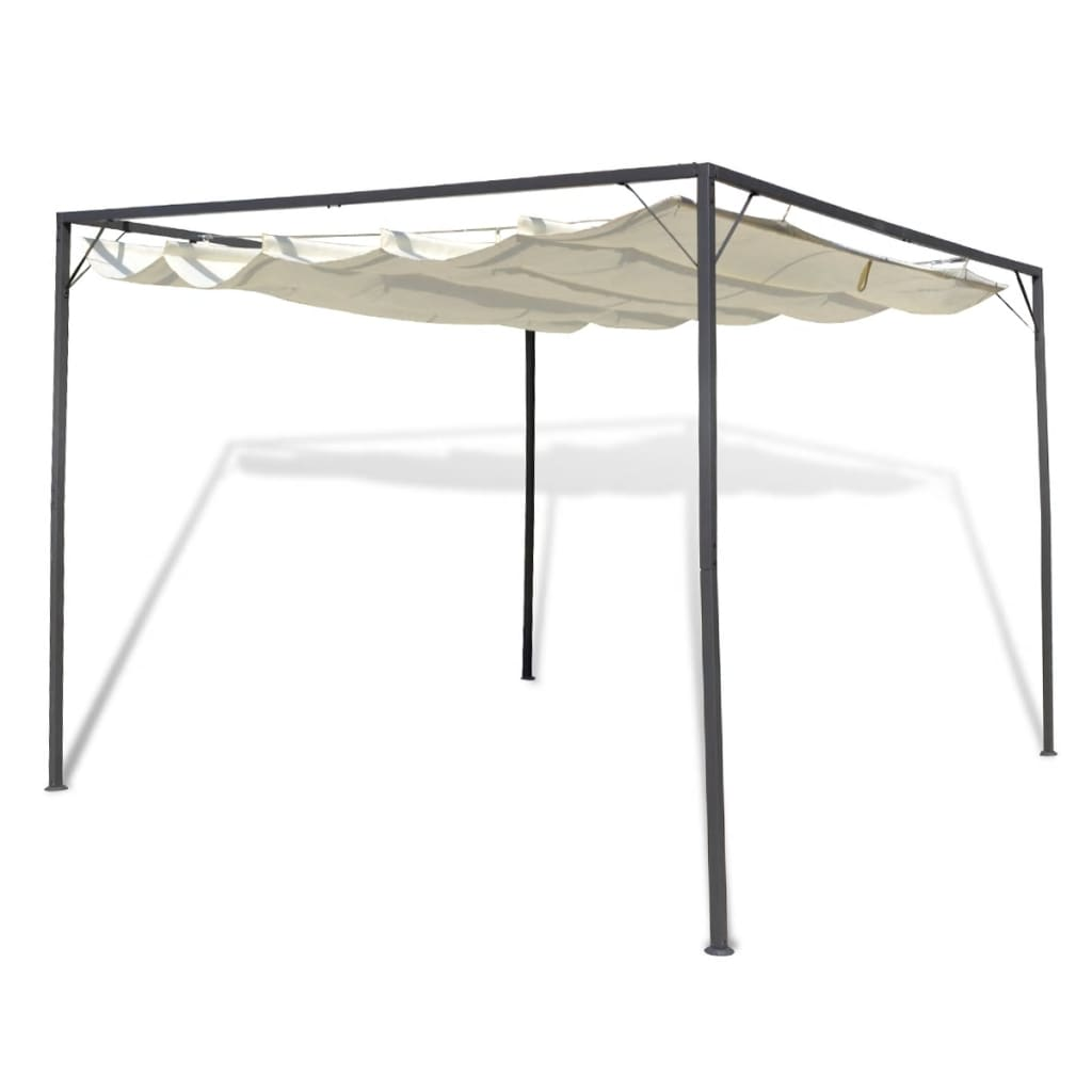 la boutique en ligne tonnelle de jardin en acier avec auvent r tractable. Black Bedroom Furniture Sets. Home Design Ideas