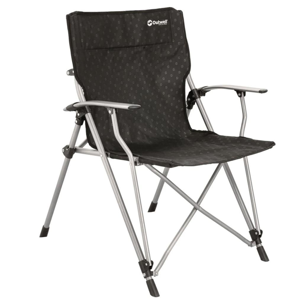 Outwekk silla plegable de camping goya 68x63x90 cm negra - Sillas plegables de camping ...