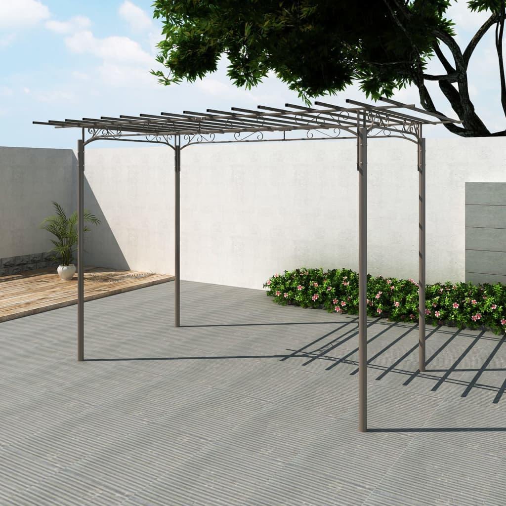 vidaXL-Stahl-Gartenzelt-Gartenlaube-Laube-Gartenpavillon-Pergola-Rosenpavillon