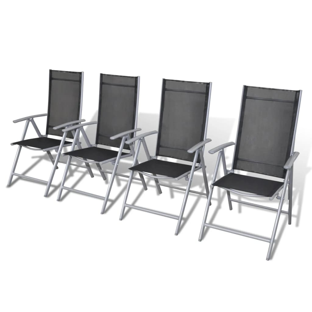 la boutique en ligne lot de 4 chaises de jardin en aluminium. Black Bedroom Furniture Sets. Home Design Ideas