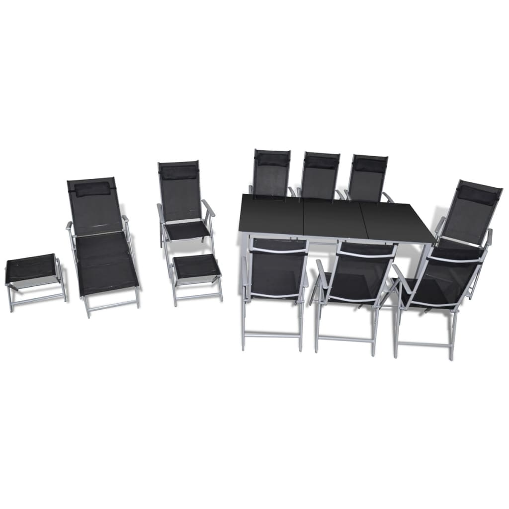 acheter vidaxl mobilier de jardin 12 pcs aluminium pas. Black Bedroom Furniture Sets. Home Design Ideas