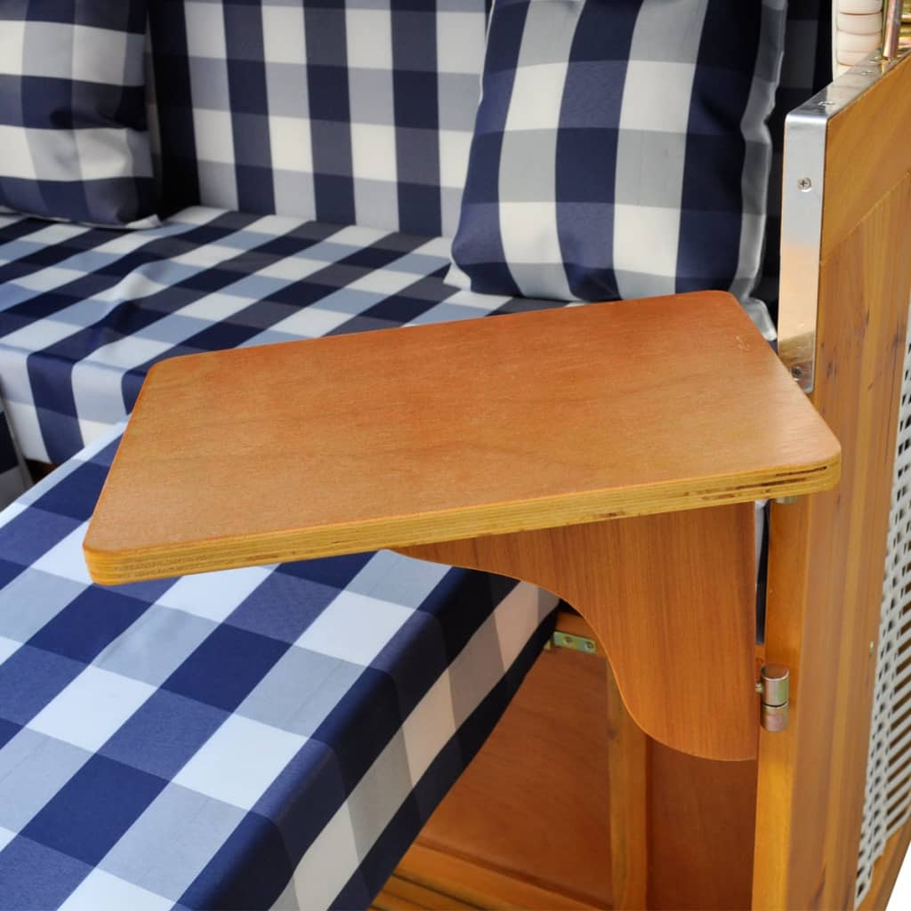 der luxus strandkorb gartenliege strandstuhl wei 2 sitzer. Black Bedroom Furniture Sets. Home Design Ideas