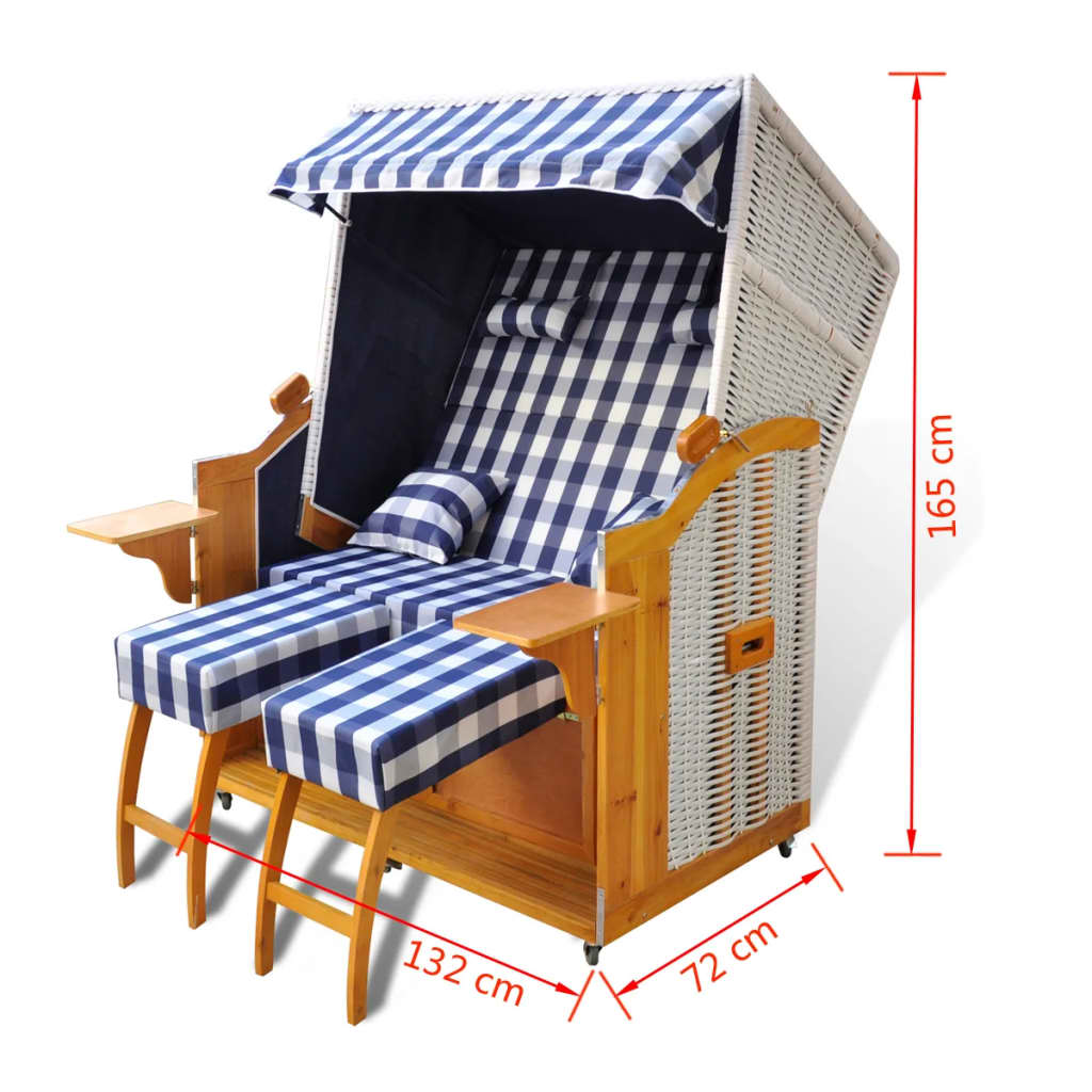 luxus strandkorb gartenliege strandstuhl wei 2 sitzer g nstig kaufen. Black Bedroom Furniture Sets. Home Design Ideas