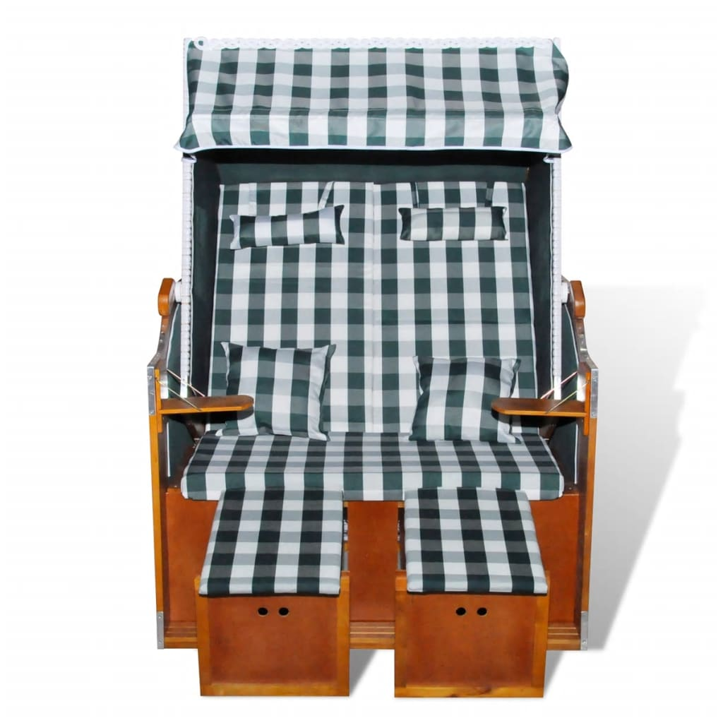 strandkorb wei rattan gr nstoff gartenliege 2 sitzer de. Black Bedroom Furniture Sets. Home Design Ideas