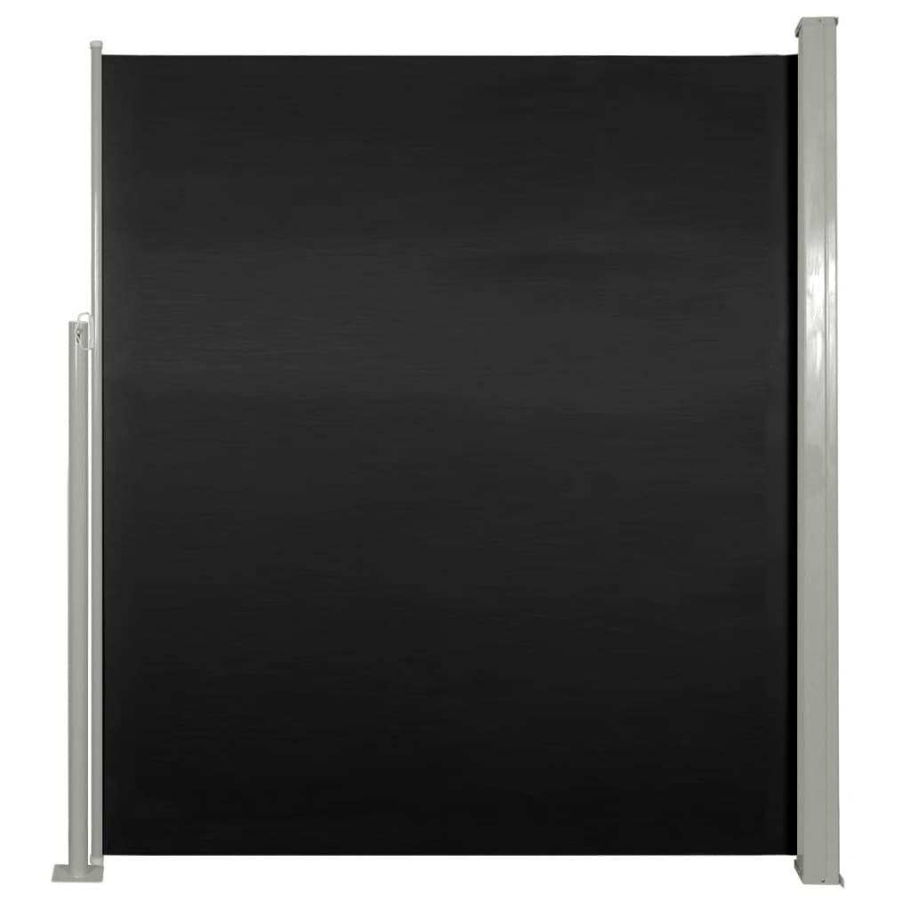 Uittrekbaar wind--zonnescherm 160 x 300 cm zwart