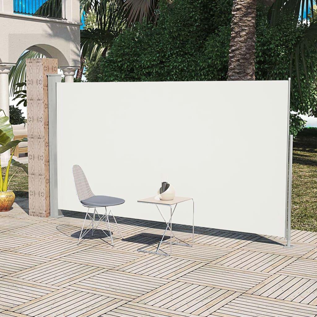 vidaXL Veranda, terasz válaszfal 160 x 300 cm krémszínű