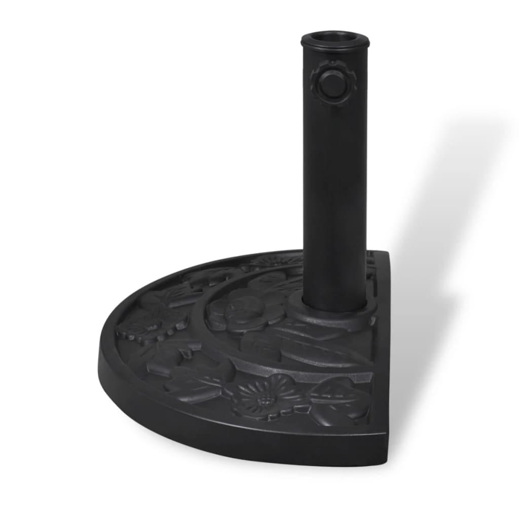 acheter pied base de parasol semi circulaire en r sine. Black Bedroom Furniture Sets. Home Design Ideas
