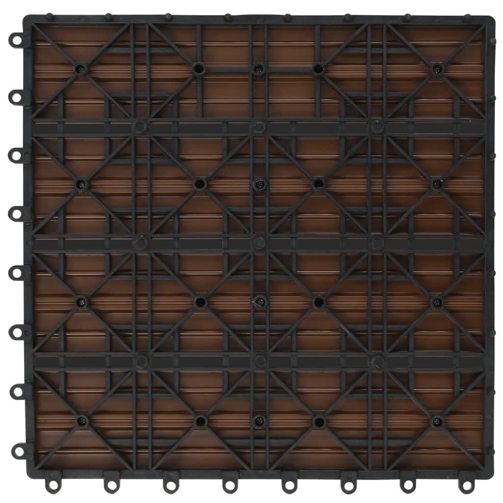 Wpc tegels 30x30cm 11 stuks 1m2 bruin online kopen - 1m2 en cm ...