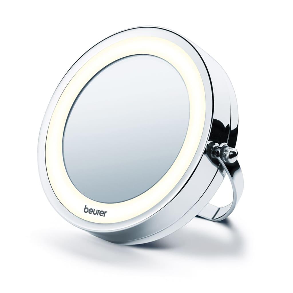Beurer espejo cosm tico iluminado bs59 plateado for Espejo 8 aumentos