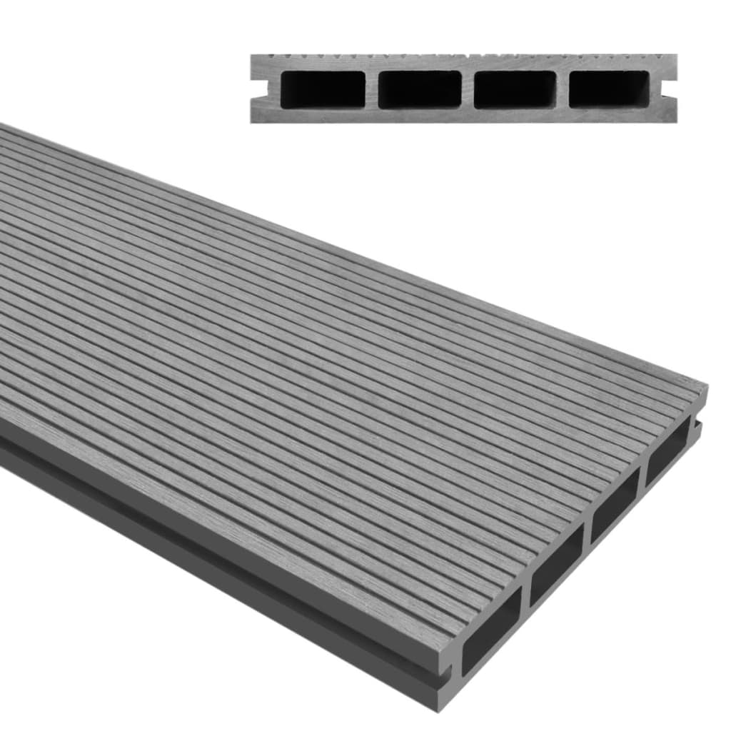 Wpc decking boards 217x14 5x2 5cm 3pcs 1m2 for Wpc decking