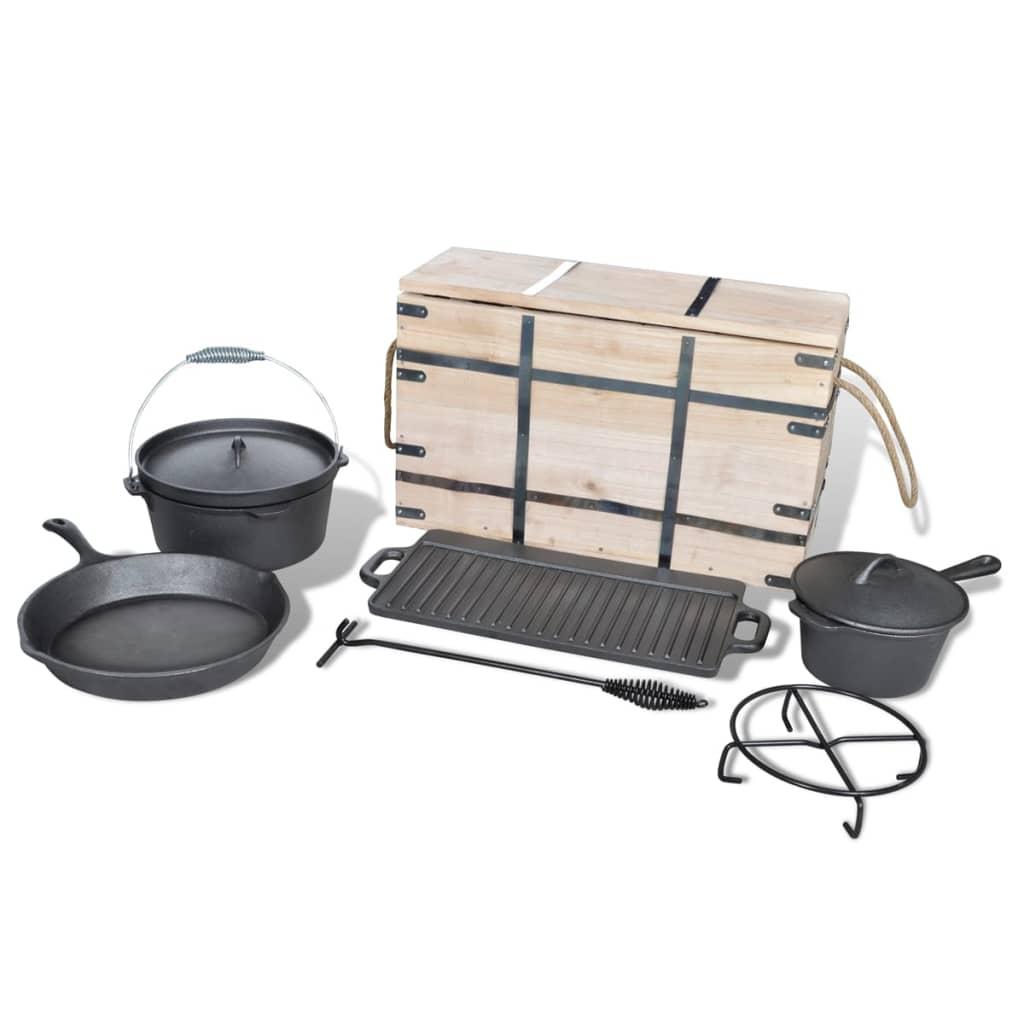 Acheter lot de casseroles batterie de cuisine 9 pcs pas cher - Batterie de cuisine en solde ...