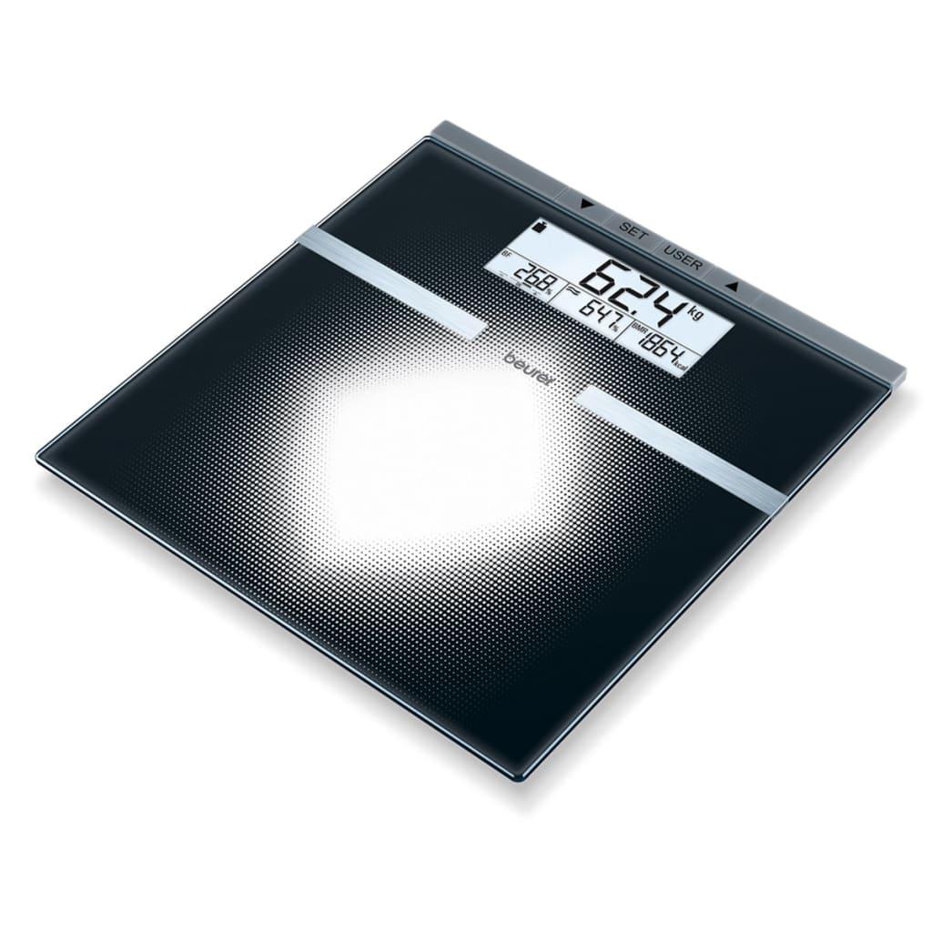 Afbeelding van Beurer Personenweegschaal BG21 zwart glas 764.30