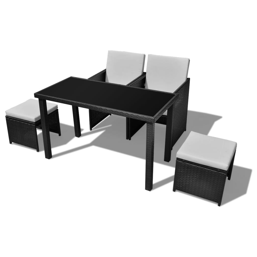 der poly rattan gartenm bel essgruppe 1 tisch 2 st hle. Black Bedroom Furniture Sets. Home Design Ideas