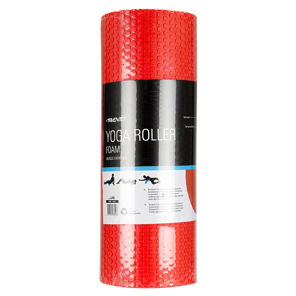acheter avento rouleau en mousse pour yoga 41wf fra uni 14 5 cm rouge pas cher. Black Bedroom Furniture Sets. Home Design Ideas