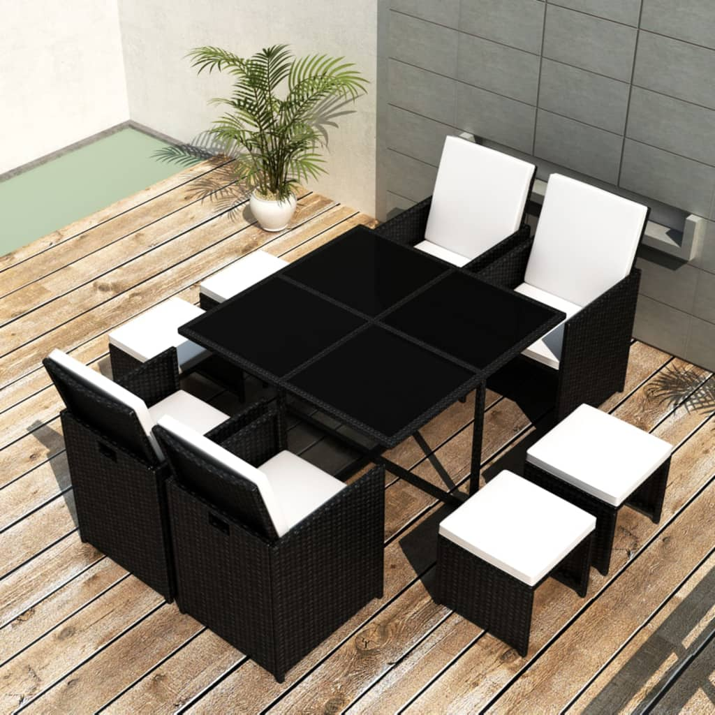 vidaxl-black-table-4-chiars-stools-poly-rattan-dinning-set