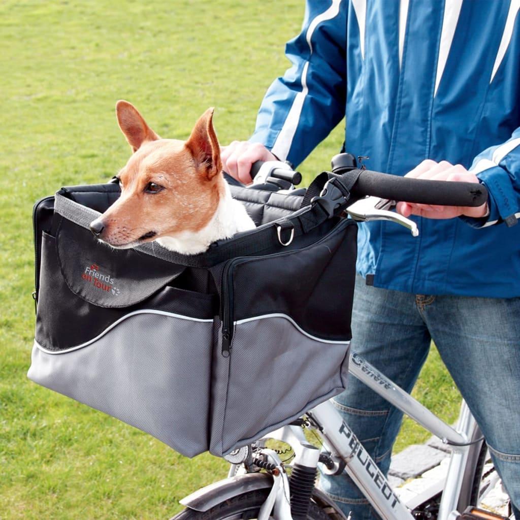trixie fahrradtasche f r hunde 41x25x26 cm schwarz und. Black Bedroom Furniture Sets. Home Design Ideas