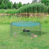 TRIXIE Buitenverblijf kleine dieren + beschermnet 60x57 cm groen 62411