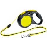 Flexi Retractable Leash New Classic S 5 m Zwart en Neon 20911
