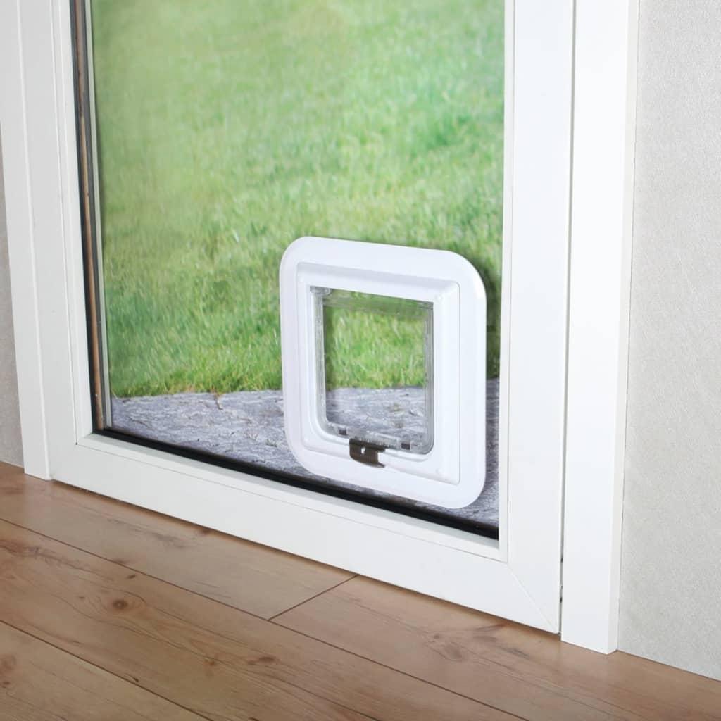 trixie kattenluik xl 4 voudig voor glazen deuren cm wit 3880 online kopen. Black Bedroom Furniture Sets. Home Design Ideas