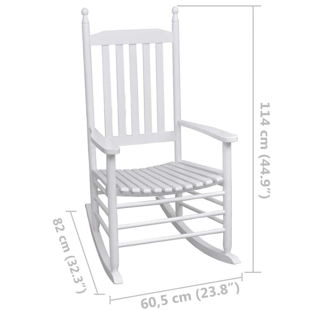 Acheter fauteuil bascule blanc bois chaise relaxation pas cher - Chaise a bascule pas cher ...