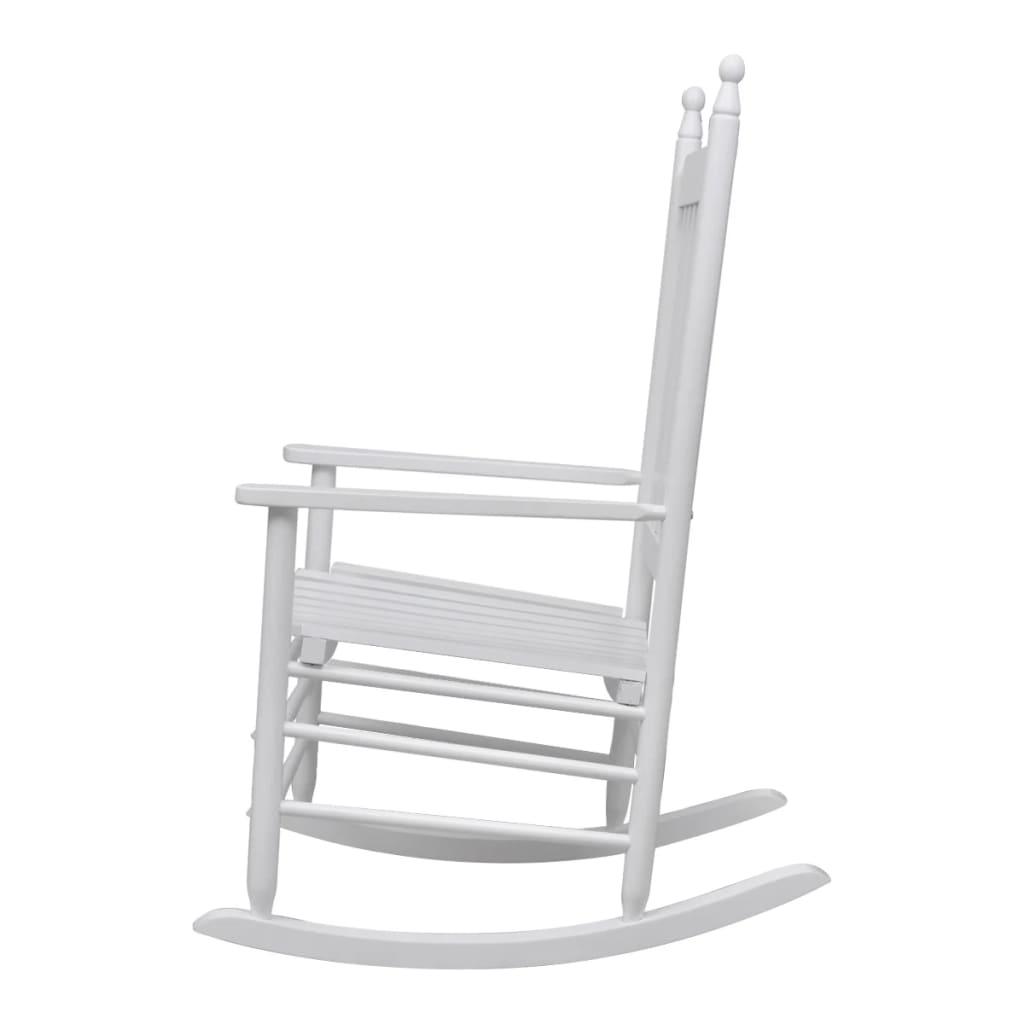 la boutique en ligne fauteuil bascule blanc bois chaise relaxation. Black Bedroom Furniture Sets. Home Design Ideas