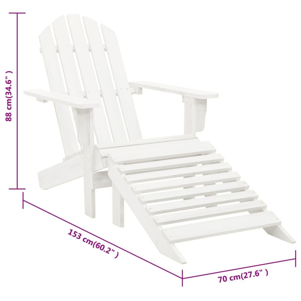 La boutique en ligne chaise en bois avec repose pied blanc for Chaise longue en bois avec repose pied