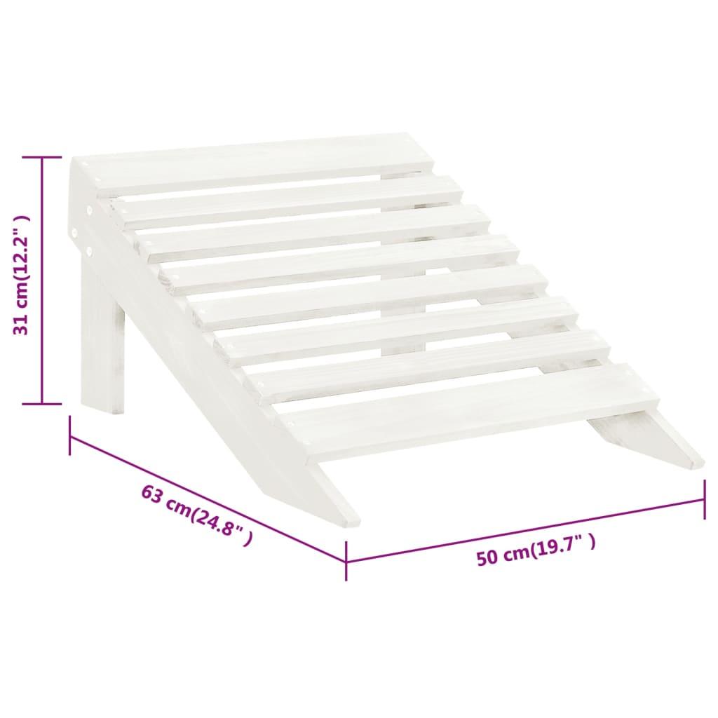 silla de madera con otomana taburete blanco. Black Bedroom Furniture Sets. Home Design Ideas