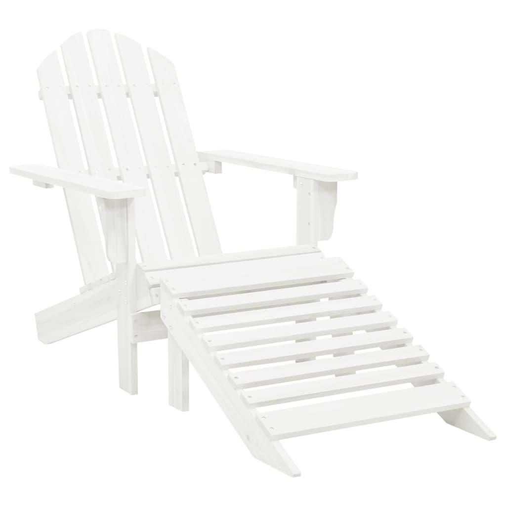 acheter chaise en bois avec repose pied blanc pas cher. Black Bedroom Furniture Sets. Home Design Ideas
