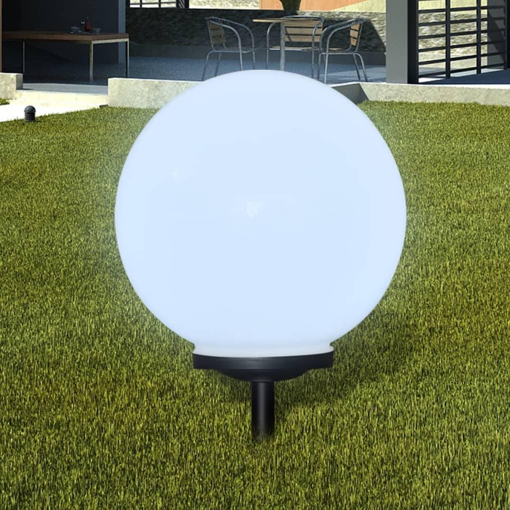 vidaXL Napelemes Gömb Kültéri lámpa LED égő 40 cm 1 db Cövekkel