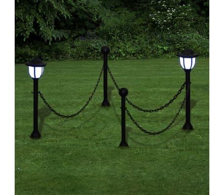 L mparas solares led de jard n conectadas en forma de - Lamparas solares para jardin ...