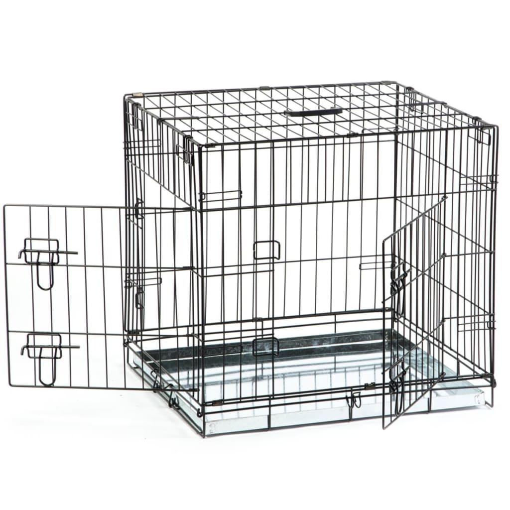 acheter beeztees cage pour chiens 63 x 55 x 61 cm noir pas. Black Bedroom Furniture Sets. Home Design Ideas