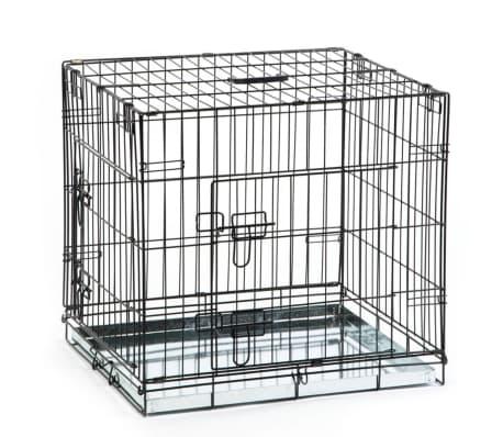 acheter beeztees cage pour chiens 63 x 55 x 61 cm noir pas cher. Black Bedroom Furniture Sets. Home Design Ideas