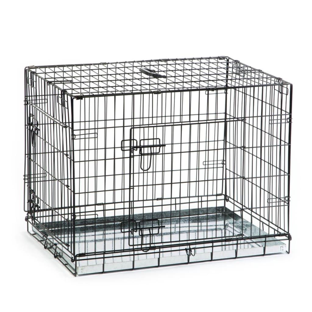 acheter beeztees cage pour chiens 78 x 55 x 61 cm noir pas. Black Bedroom Furniture Sets. Home Design Ideas