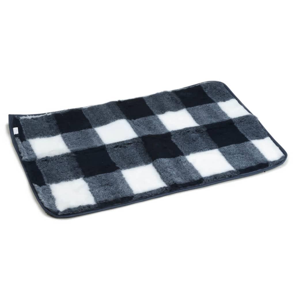 Beeztees Tapis pour caisse 89 x 60 cm Bleu et blanc Ce tapis de caisse en damier de Beeztees rendra votre chien beaucoup plus à l'aise quand il