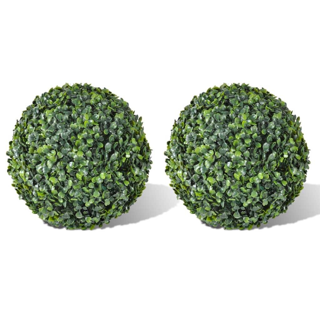 2x-Buchsbaum-Kugel-Buchskugel-Buchskugel-Kunstbaum-Buchsbaumkugel-Kunstpflanze