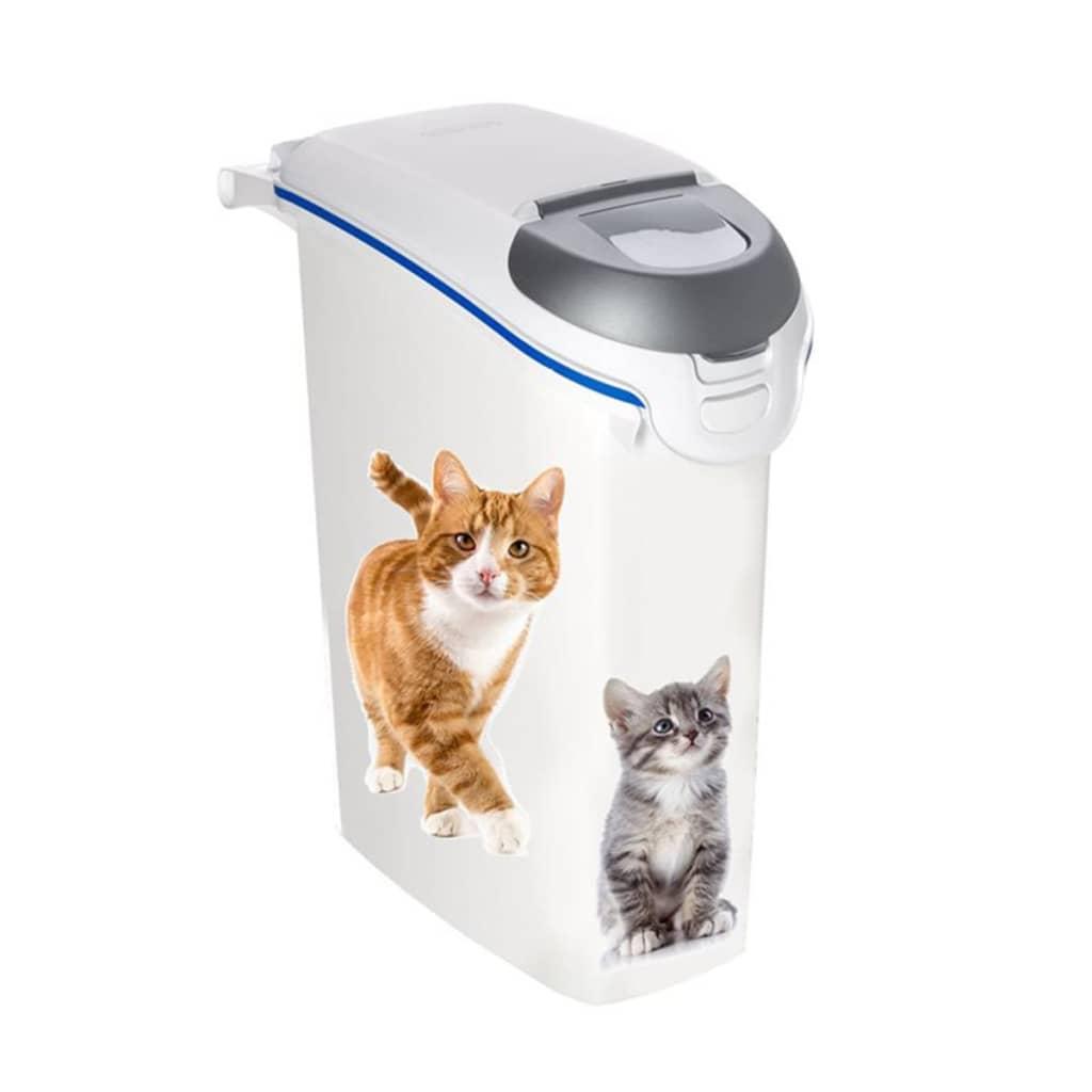 Acheter cuver conteneur liti re pour chat 23 l blanc pas - Litiere pas cher pour chat ...