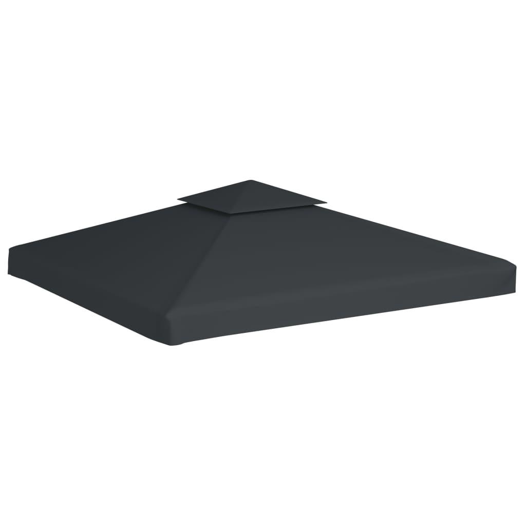 copertura impermeabile ricambio gazebo 270 g m grigio scuro 3 x 3 m. Black Bedroom Furniture Sets. Home Design Ideas